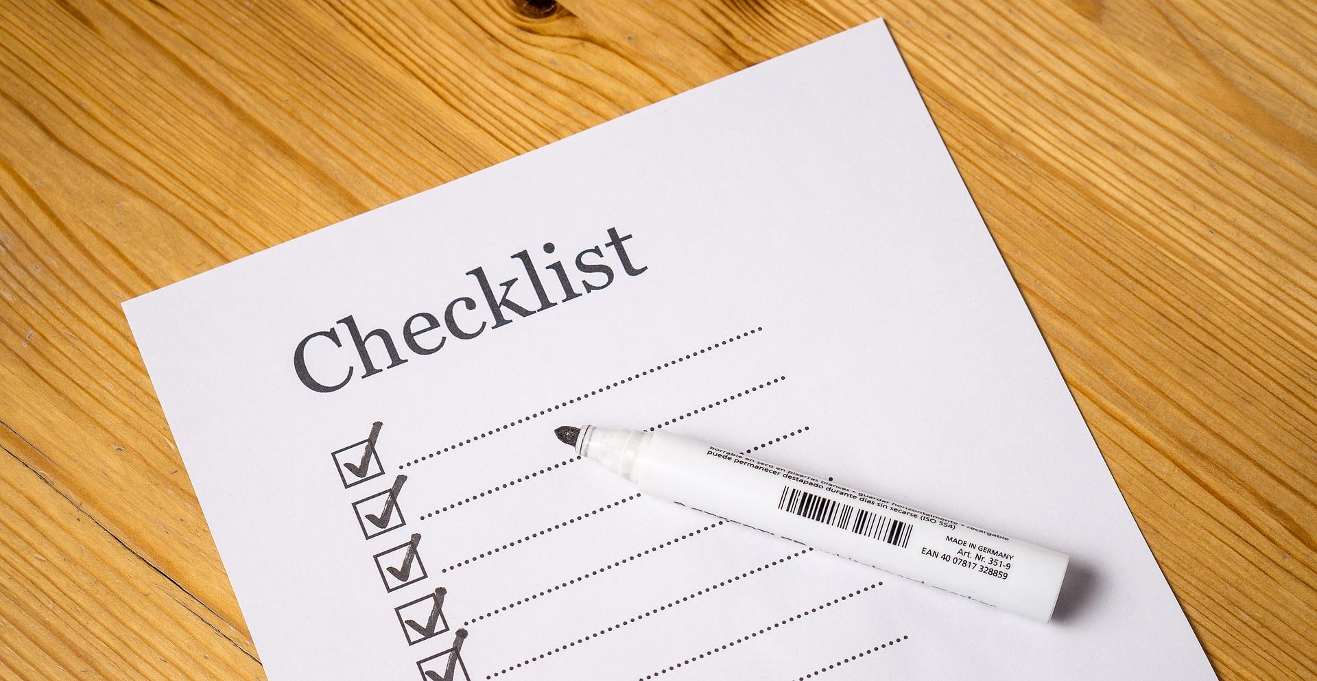 checklist 2077019
