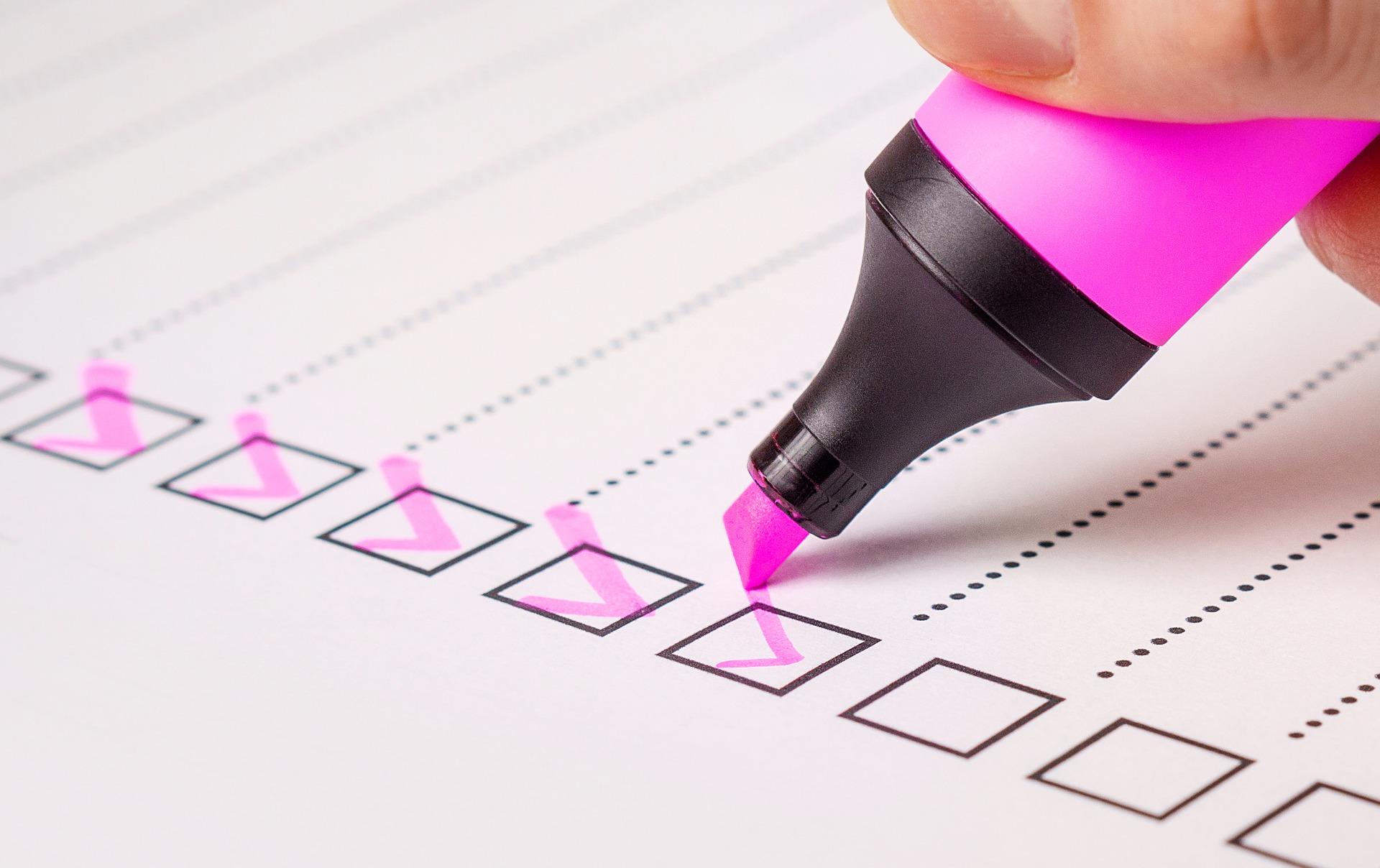 checklist 2077020