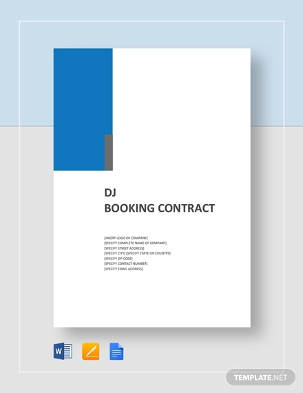 dj booking contract