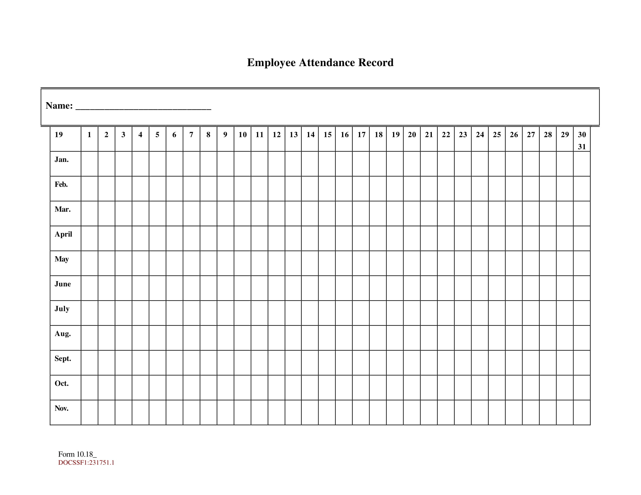 image about Attendance Sheet Printable identified as 14+ Printable Attendance Sheet Illustrations - PDF, Phrase Illustrations