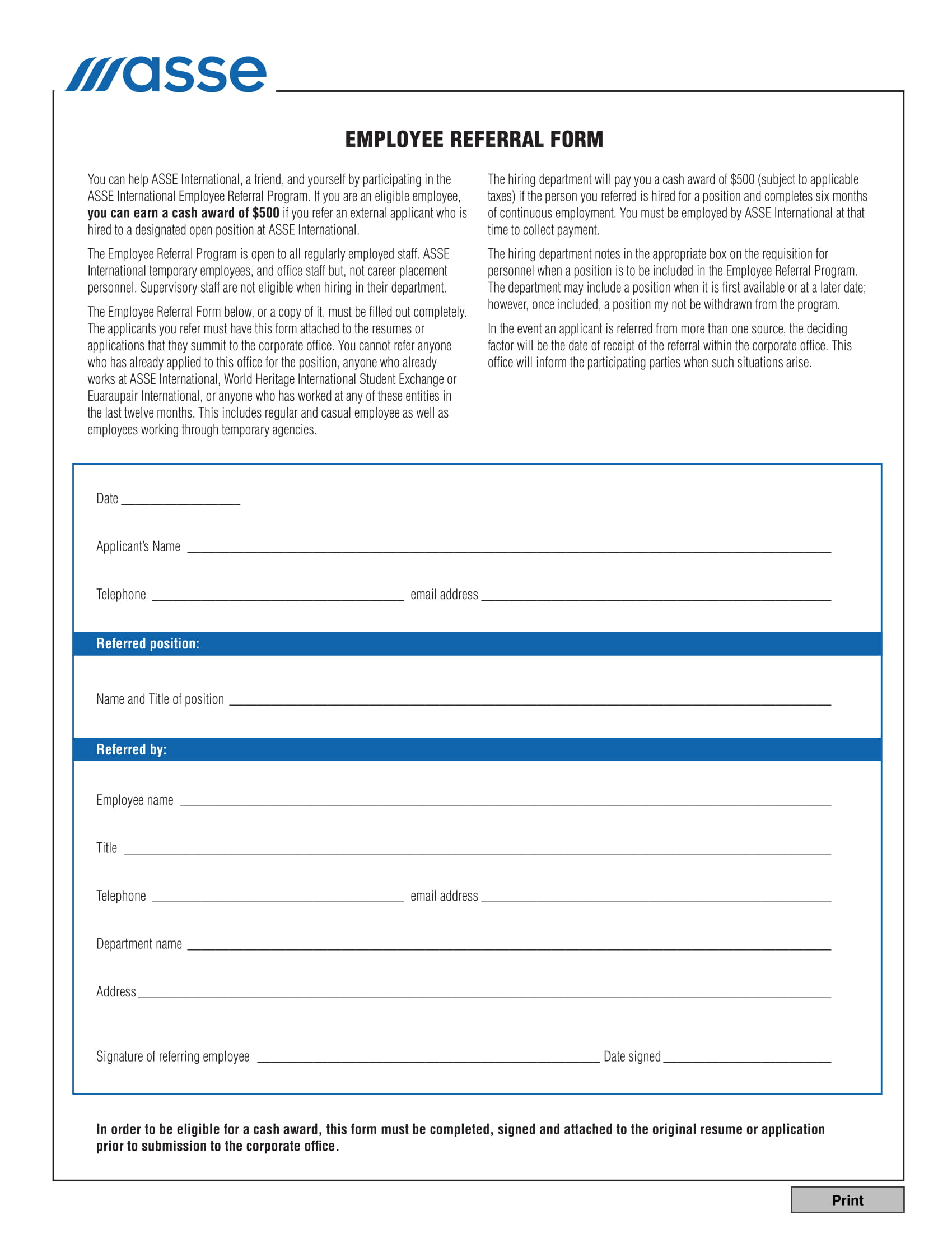 employee - Hr Form