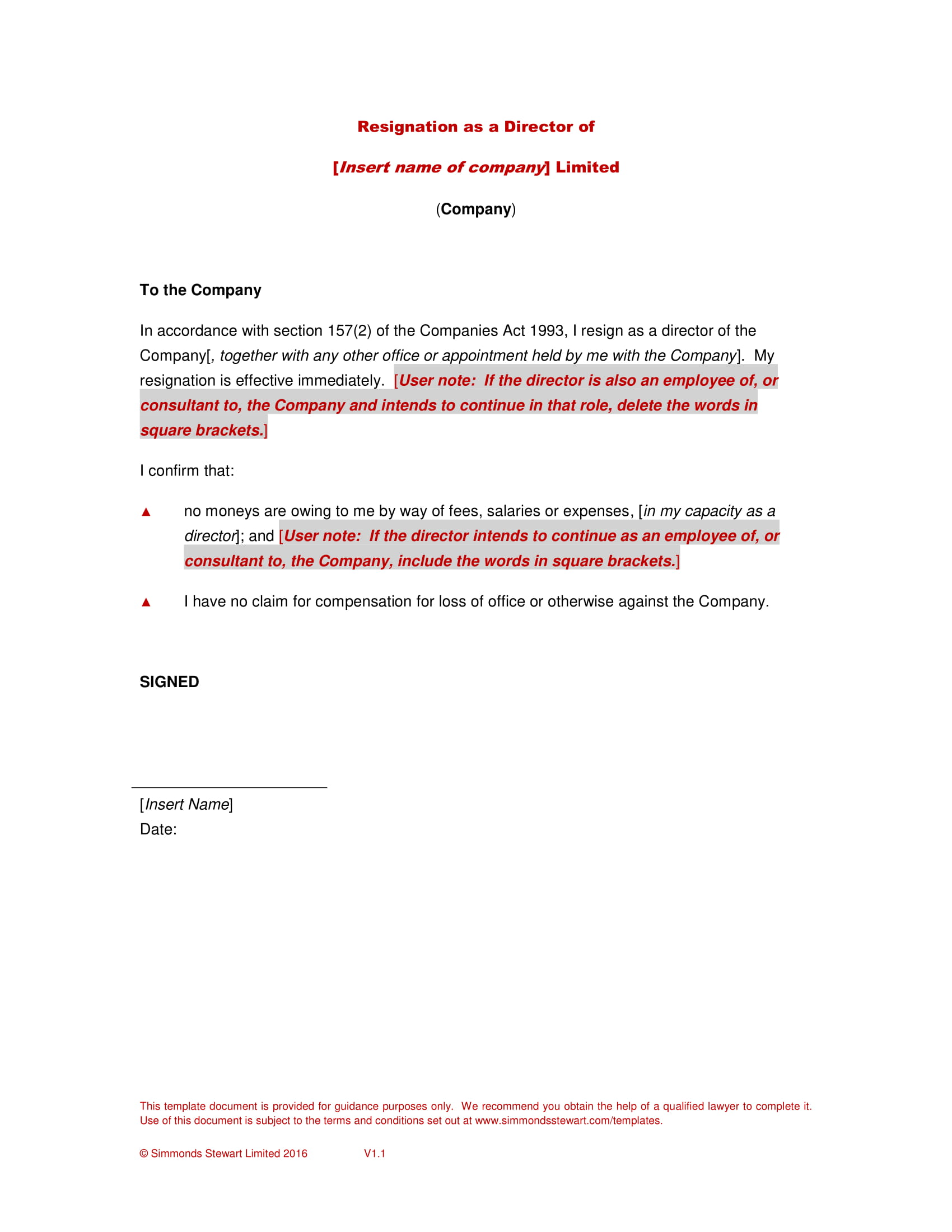 Board Resignation Letter With Examples In Pdf