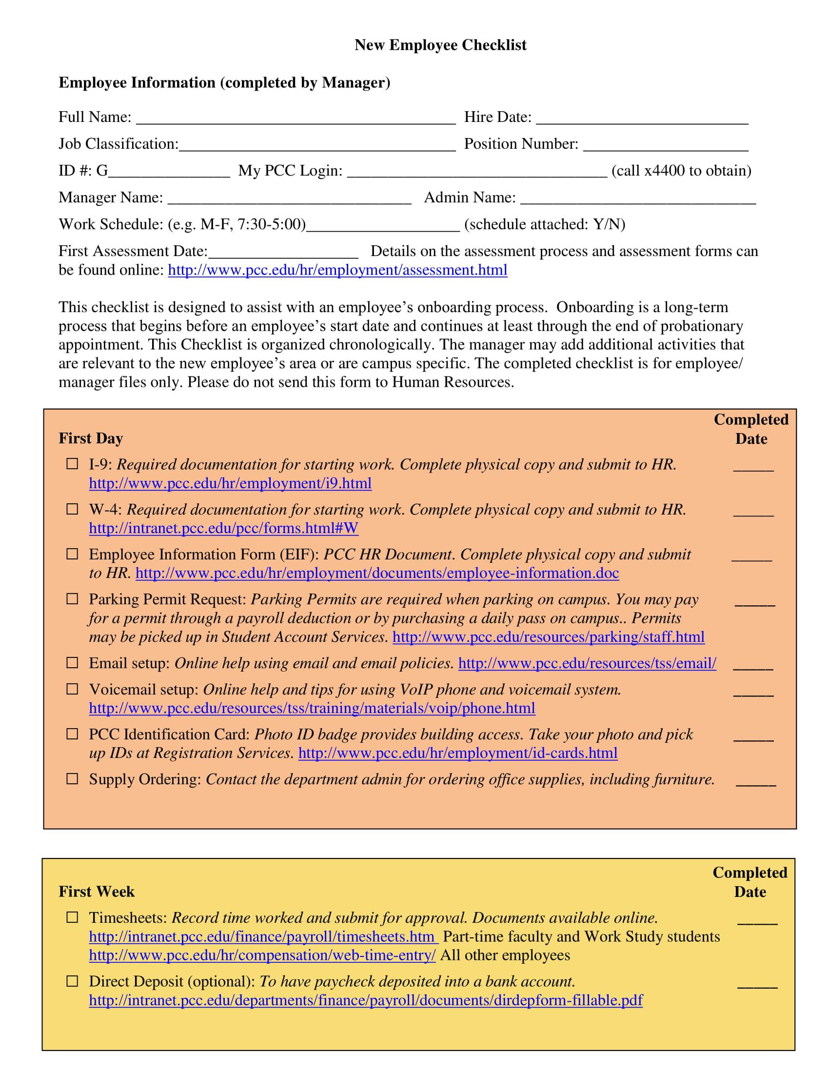new checklist 1