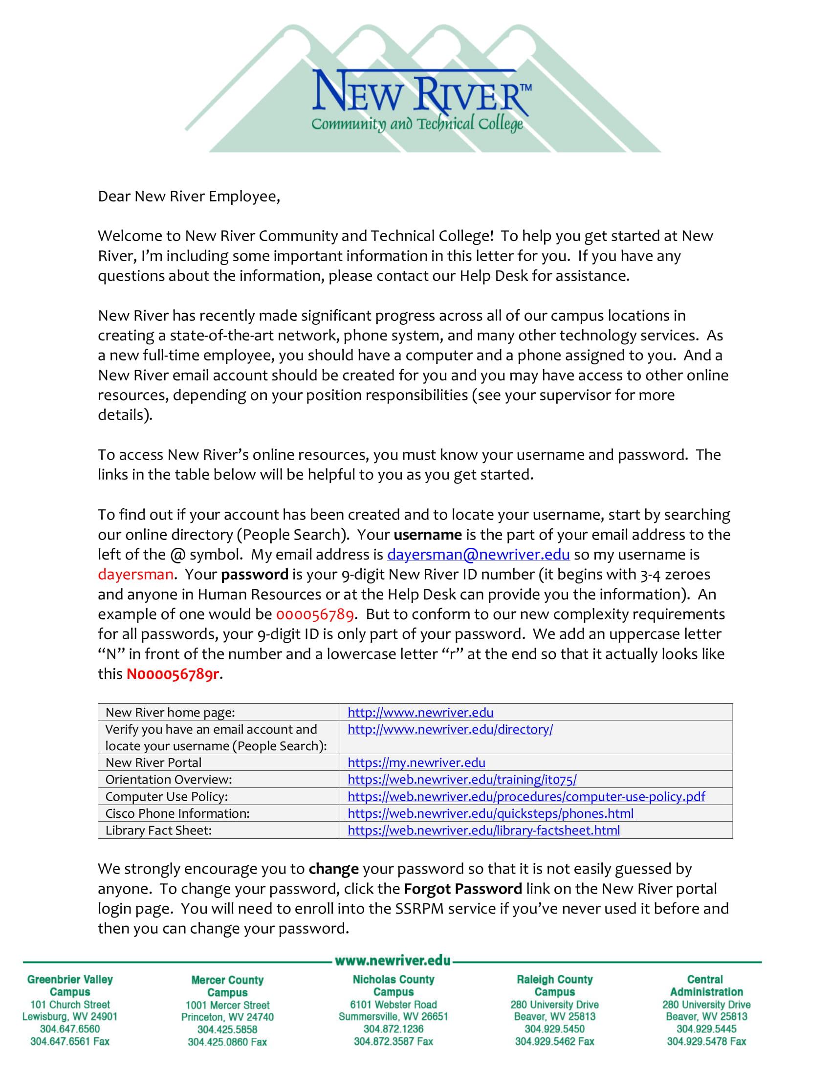new employee letter 1
