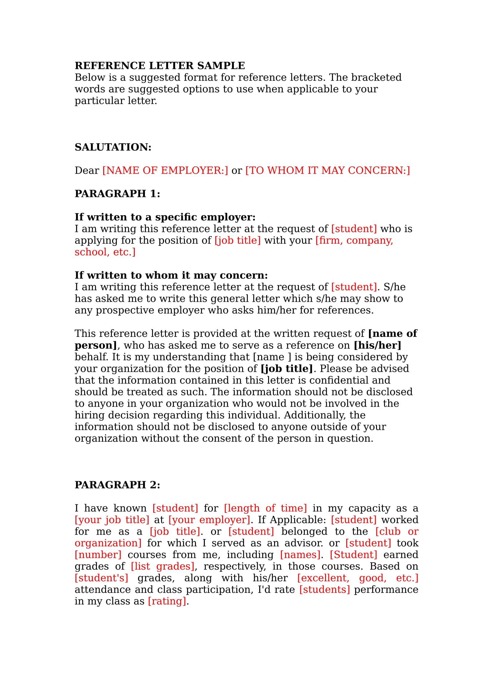 reference letters template for writing one 1