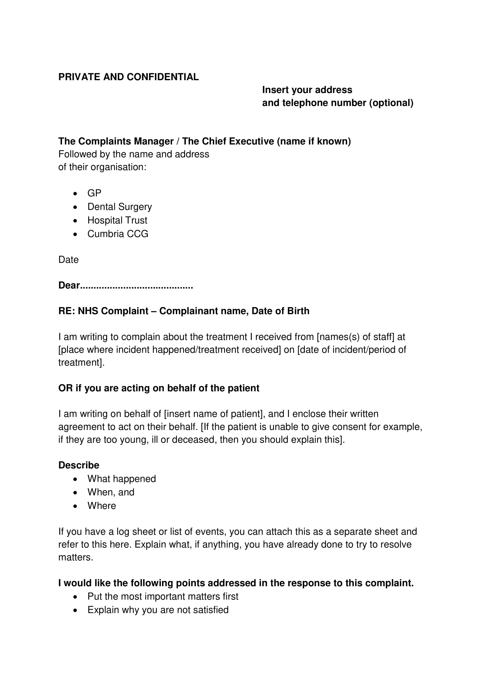 19 complaint letter examples pdf complaint letter writing and sending guide with example spiritdancerdesigns Gallery