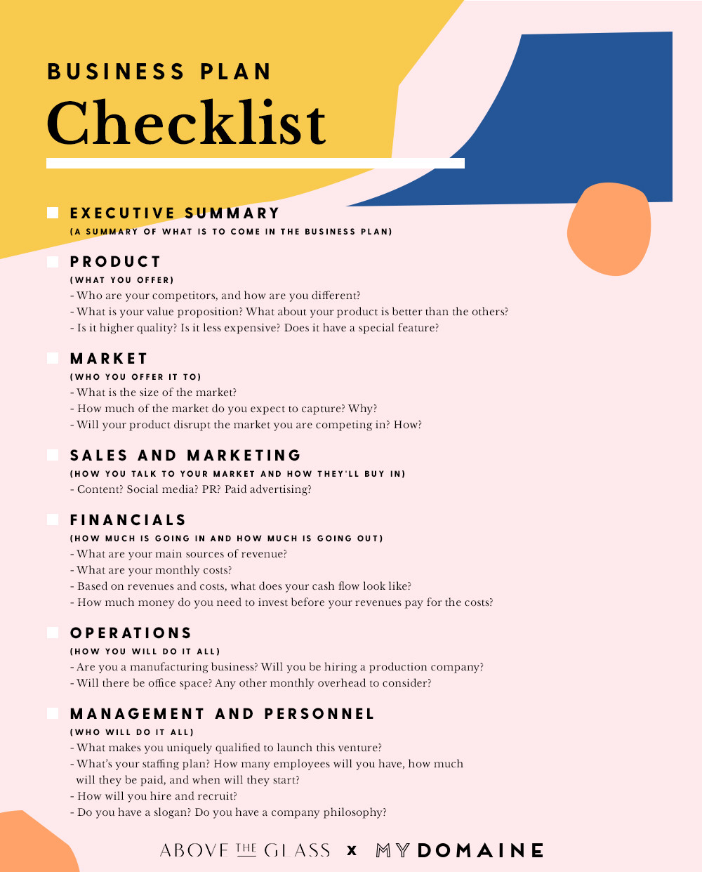 business checklist examples pdf