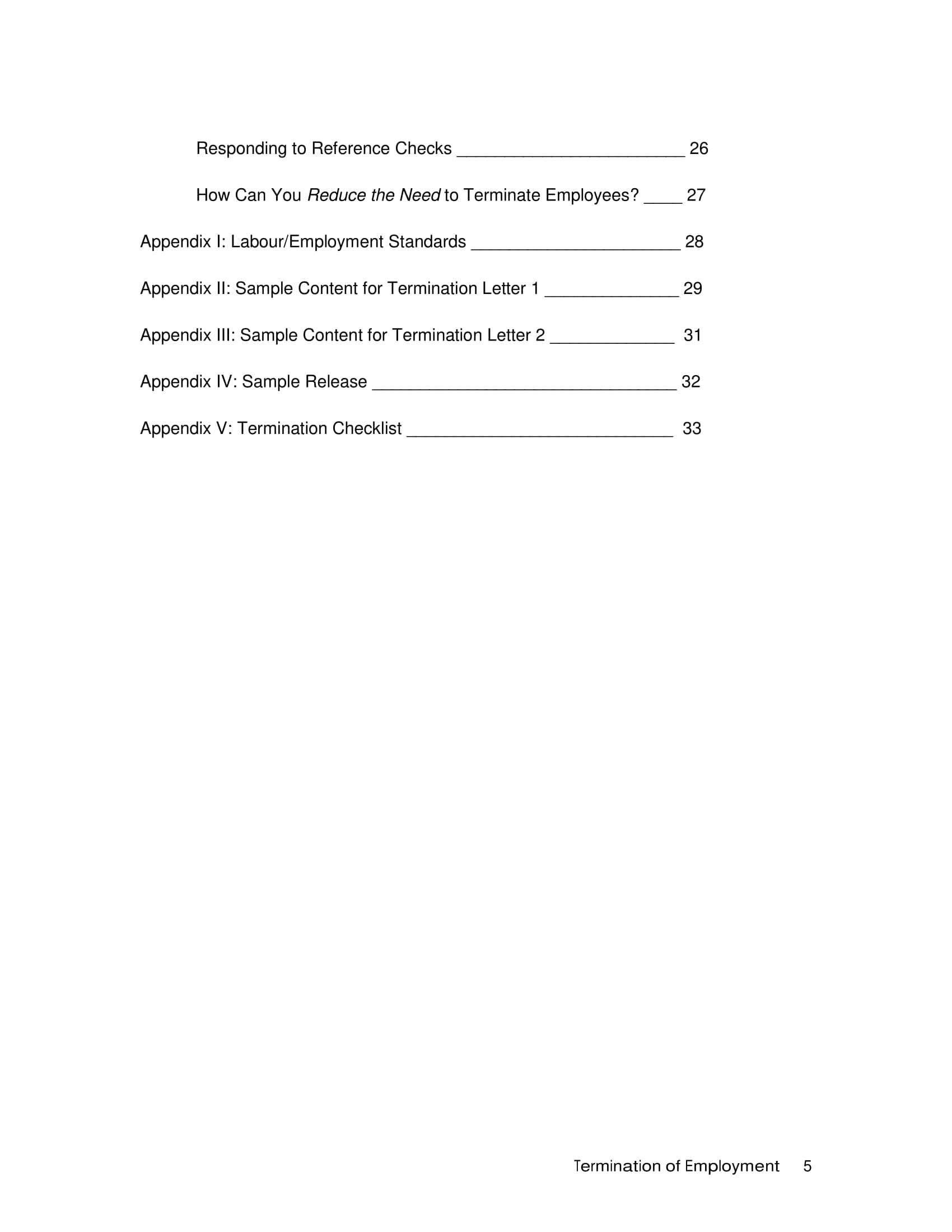 Termination Meeting Checklist Examples  Pdf