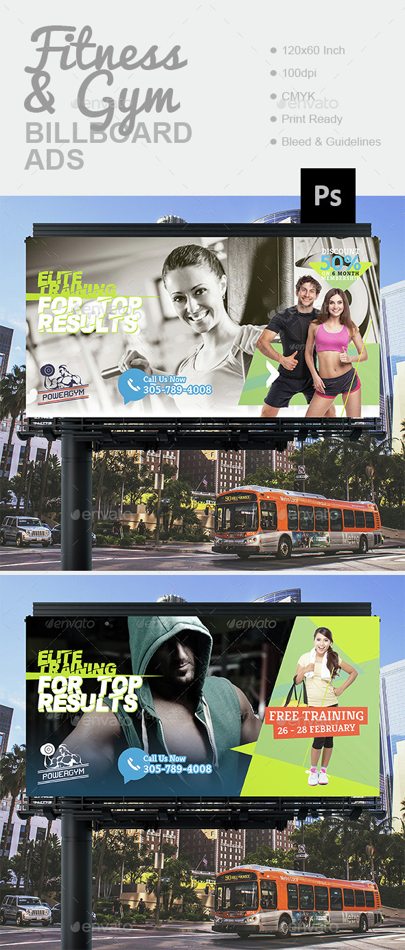 1 fitness gym billboard preview
