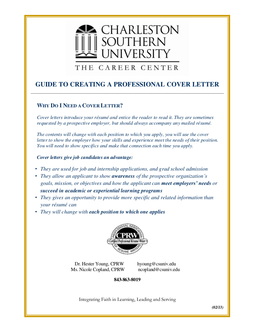18 cover letter guide