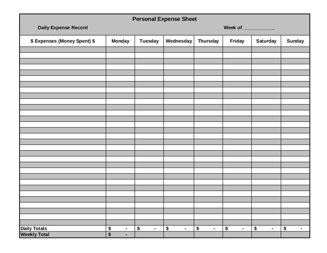 9 expense sheet examples pdf