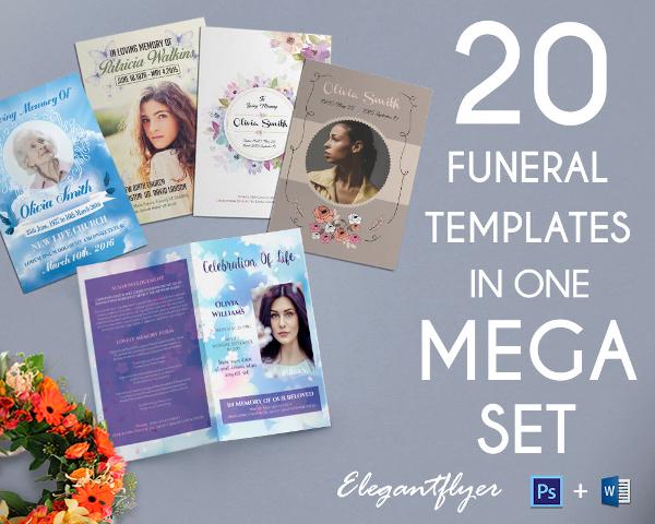 20 funeral program brochure templates