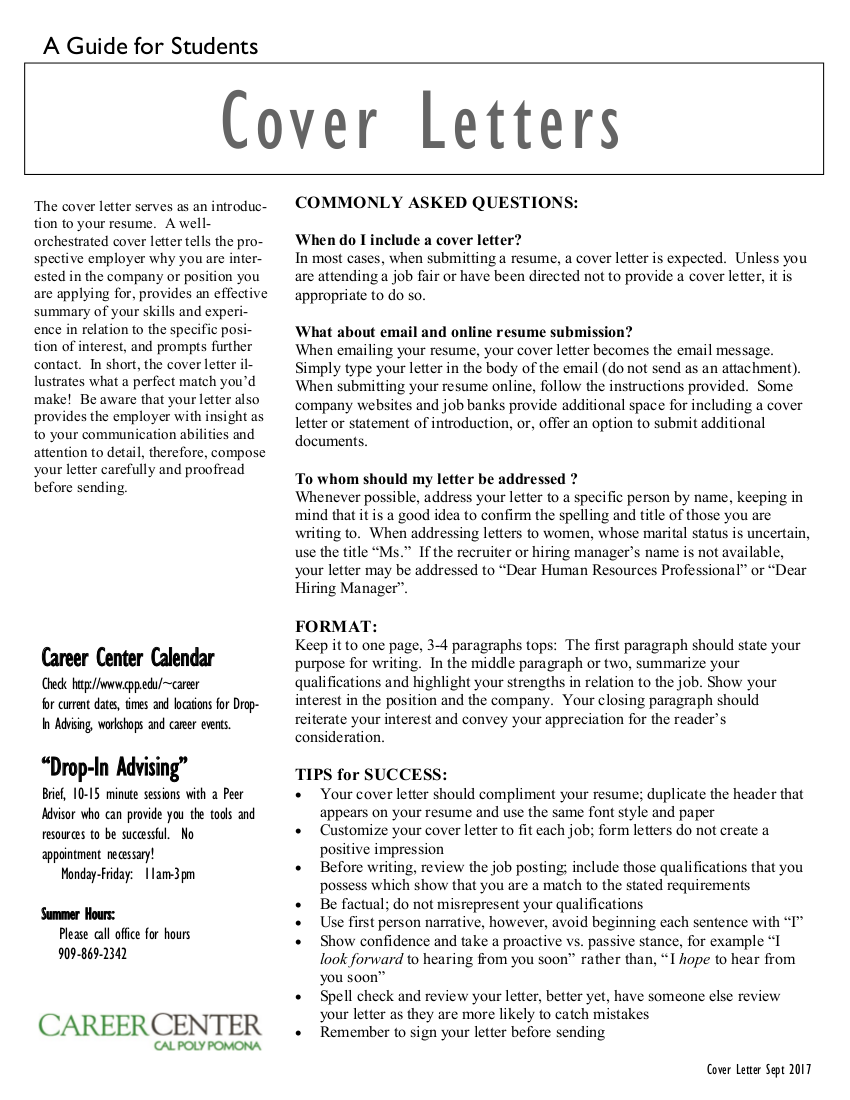 20 cover letters