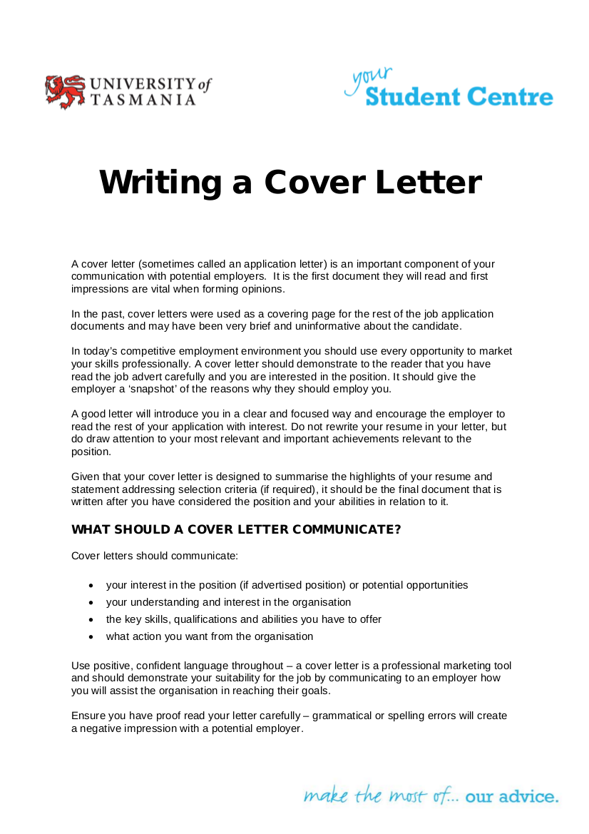 21 Writing A Cover Letter