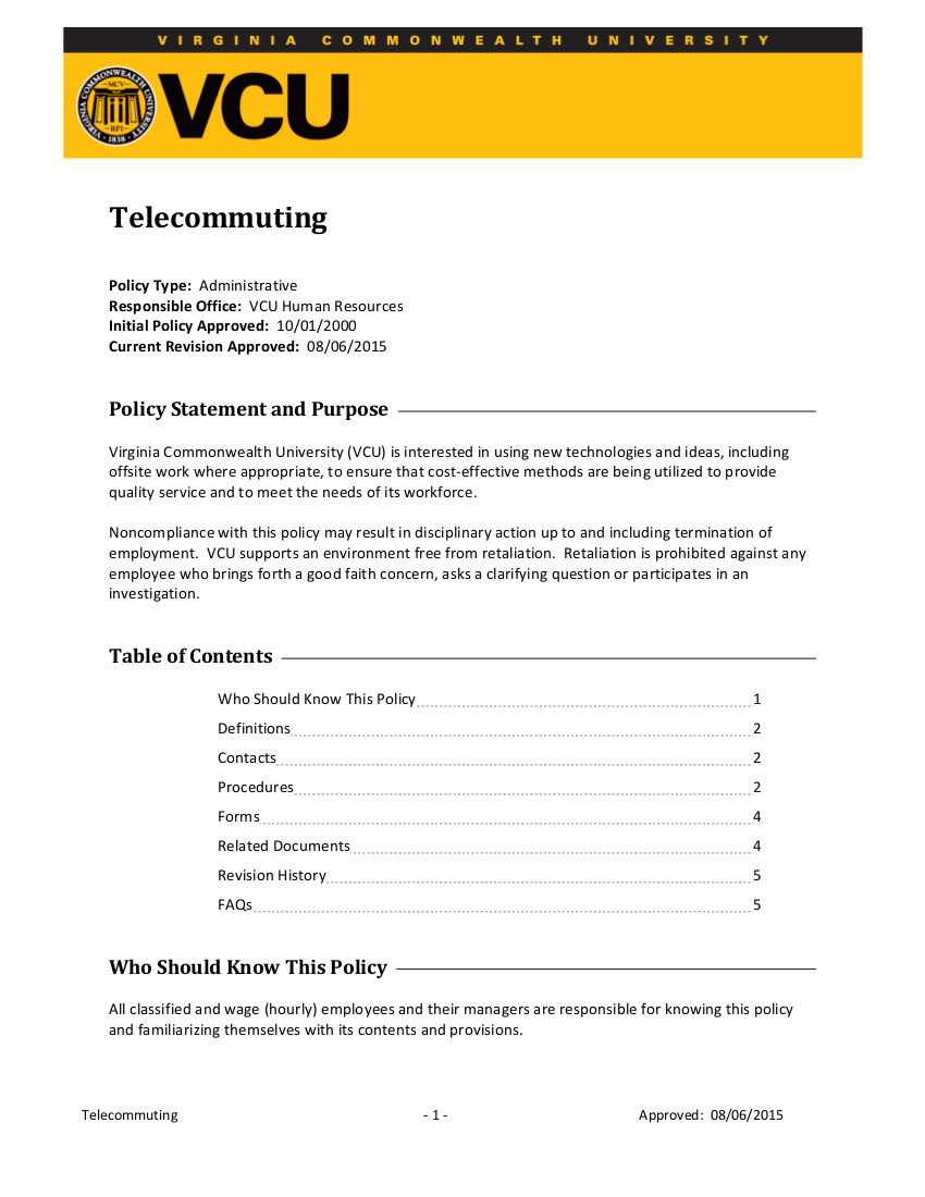 3telecommuting policy sample