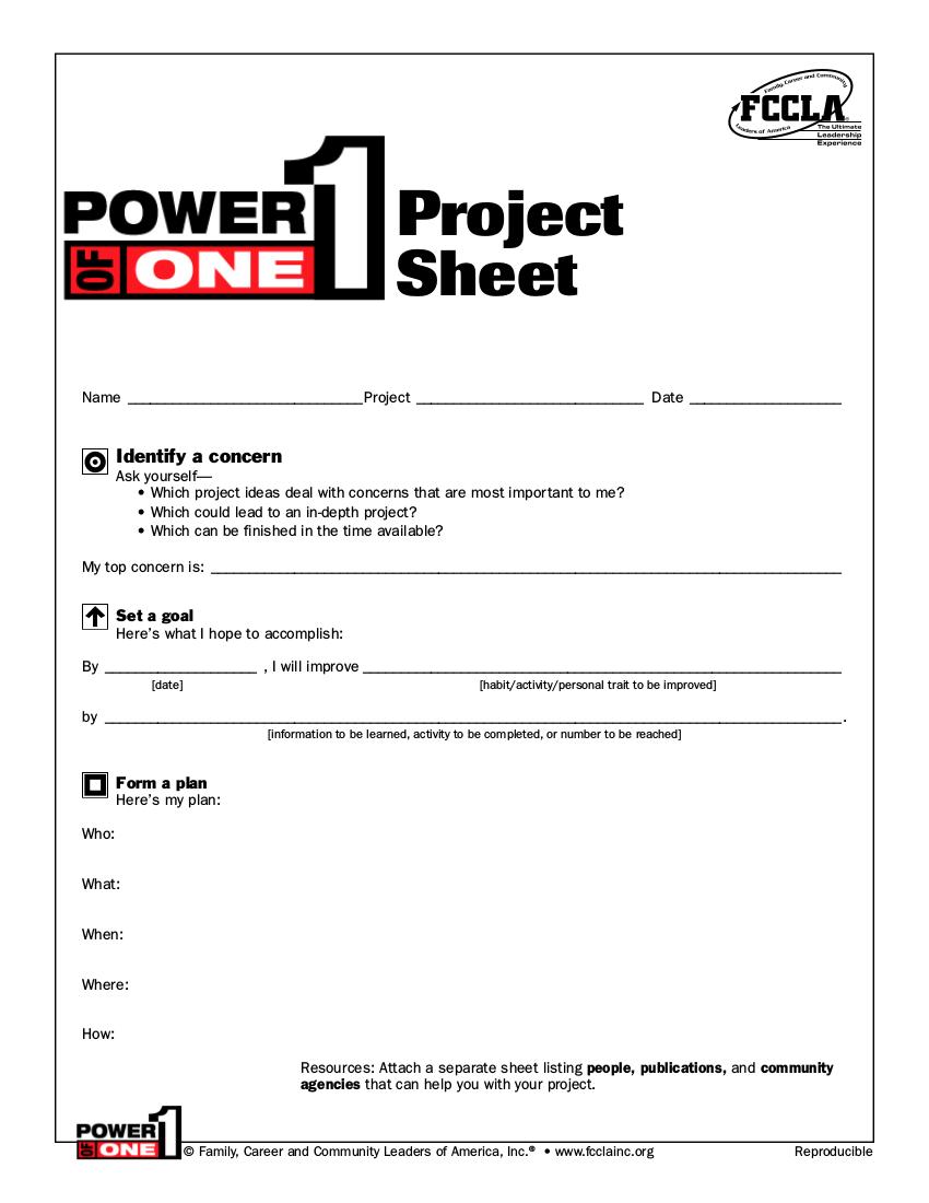 7sample project worksheet