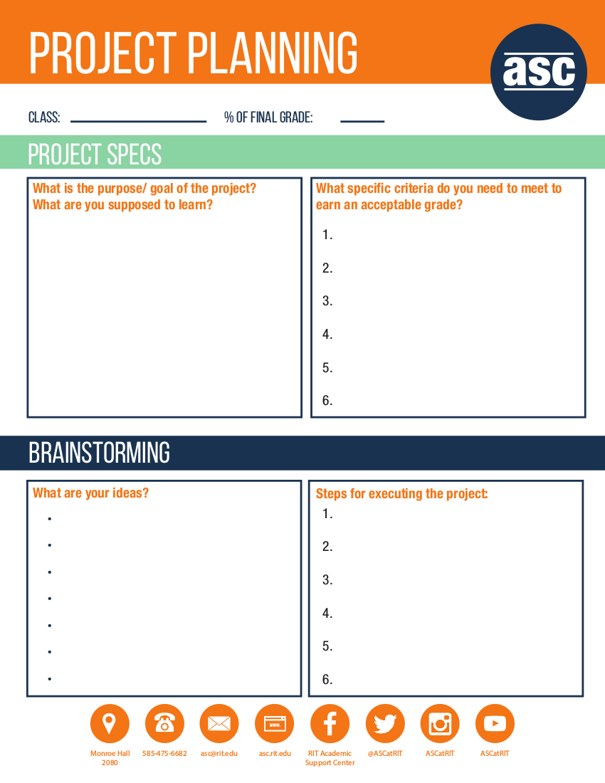 8project planning worksheet