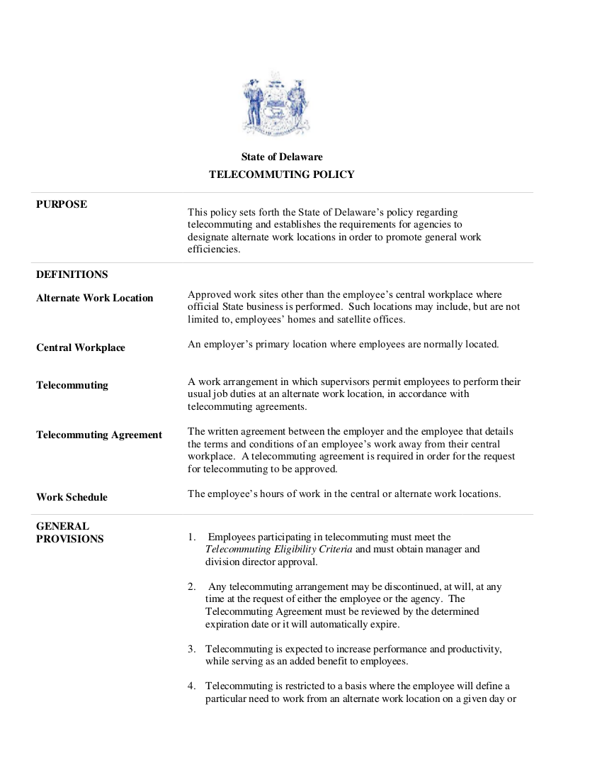8telecommuting policy sample