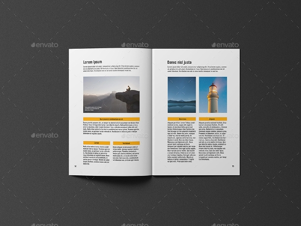 a4 brochure and catalogue mockup