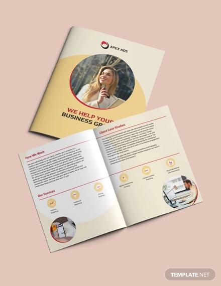 advertising consultant bi fold brochure template