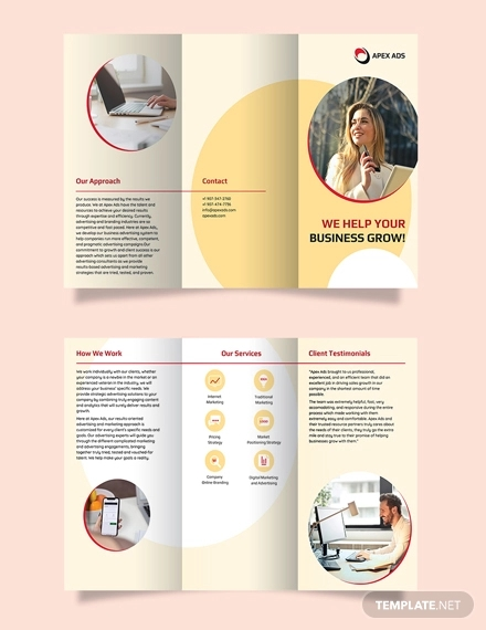 advertising consultant tri fold brochure template2