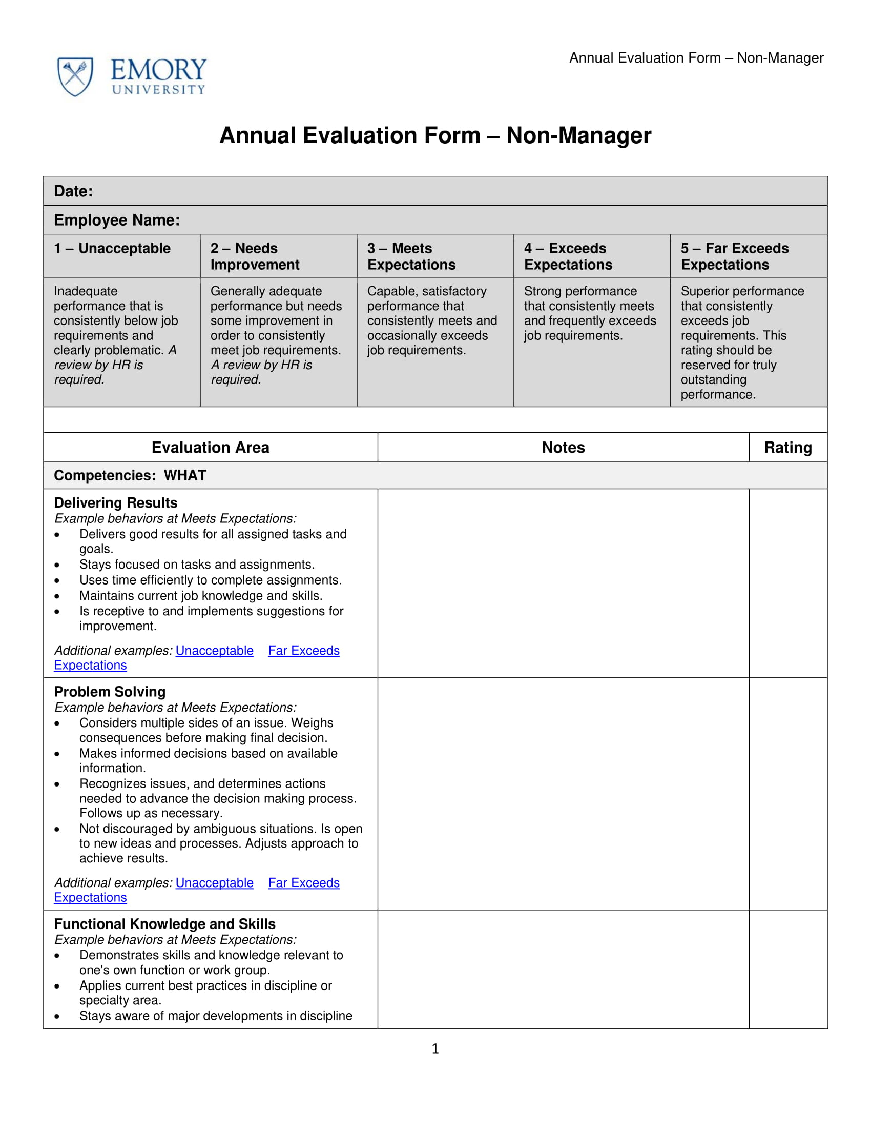 9 Employee Evaluation Form Examples Pdf Examples