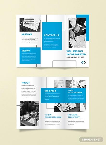 annual report tri fold brochure template