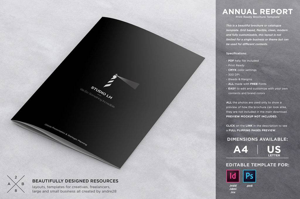 annual report and brochure template