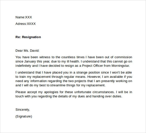 another resignation letter