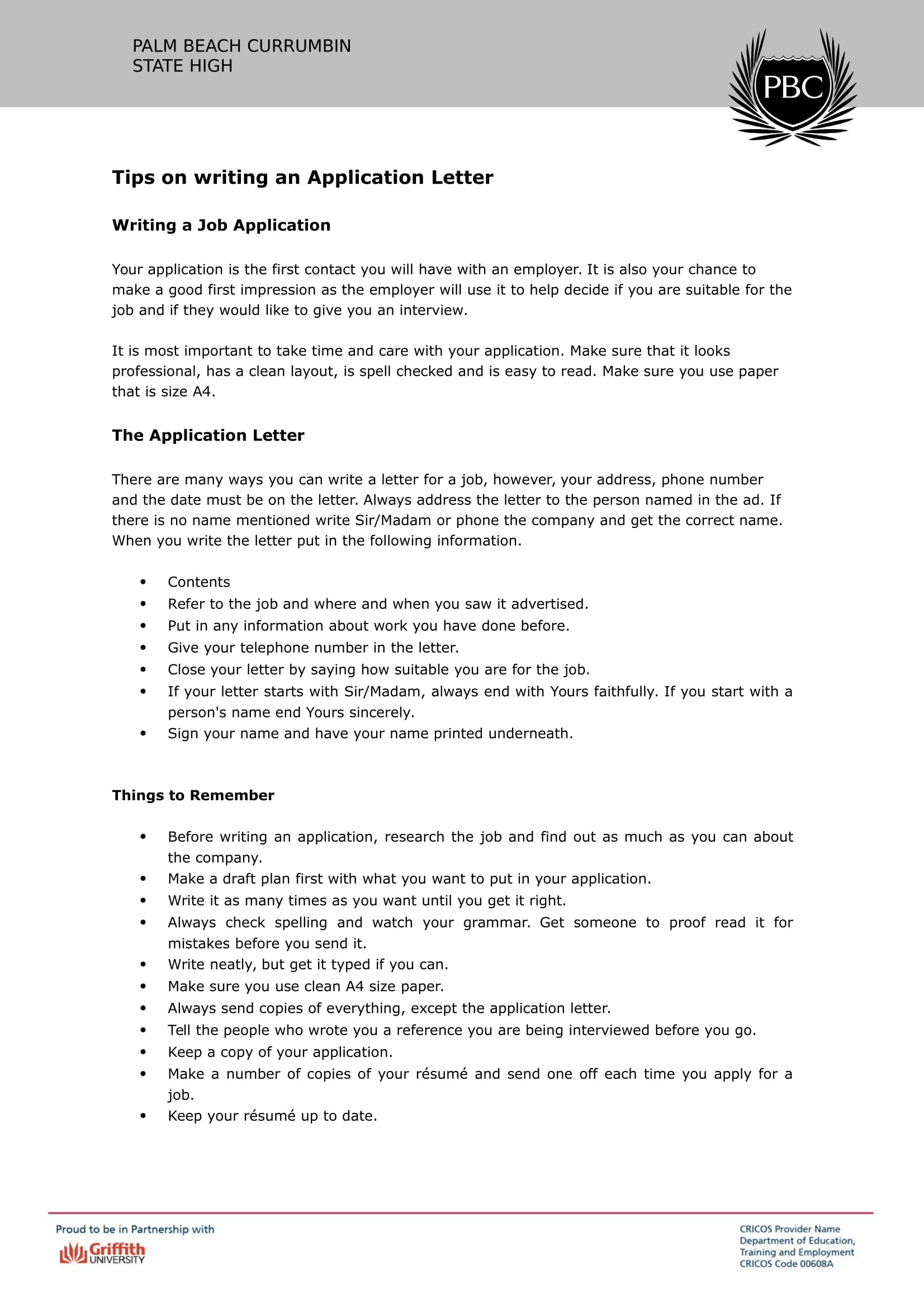 19  job application letter examples