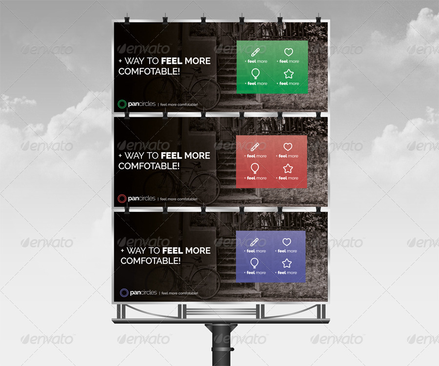 artistic corporate billboard design example