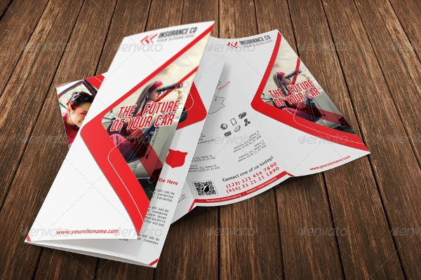 auto insurance multipurpose tri fold brochure