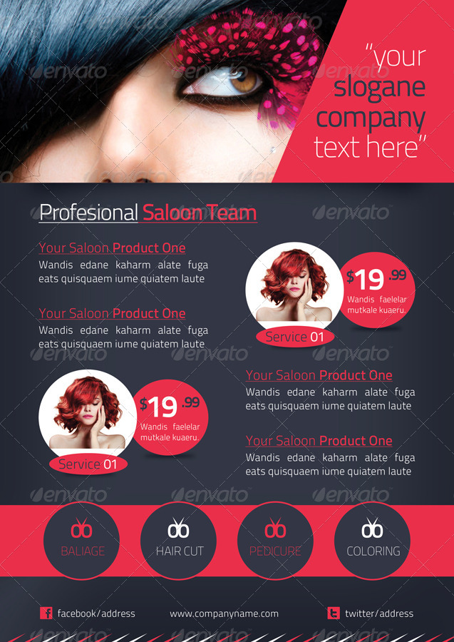 Beauty Salon Brochures Designs And Examples  Psd Ai
