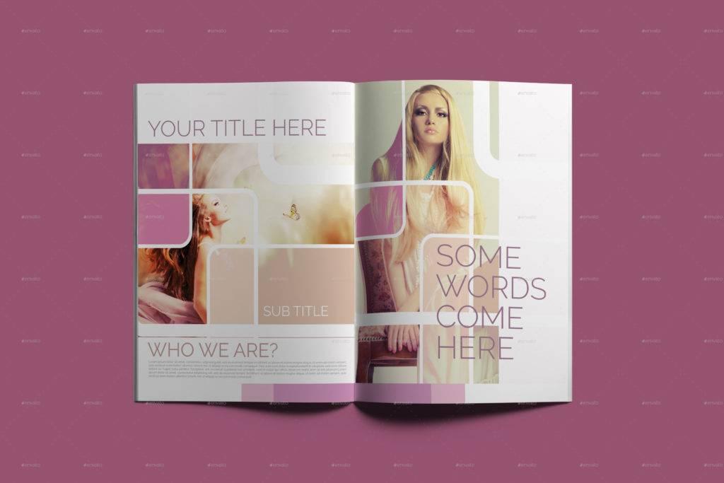 beauty and fashion bi fold brochure