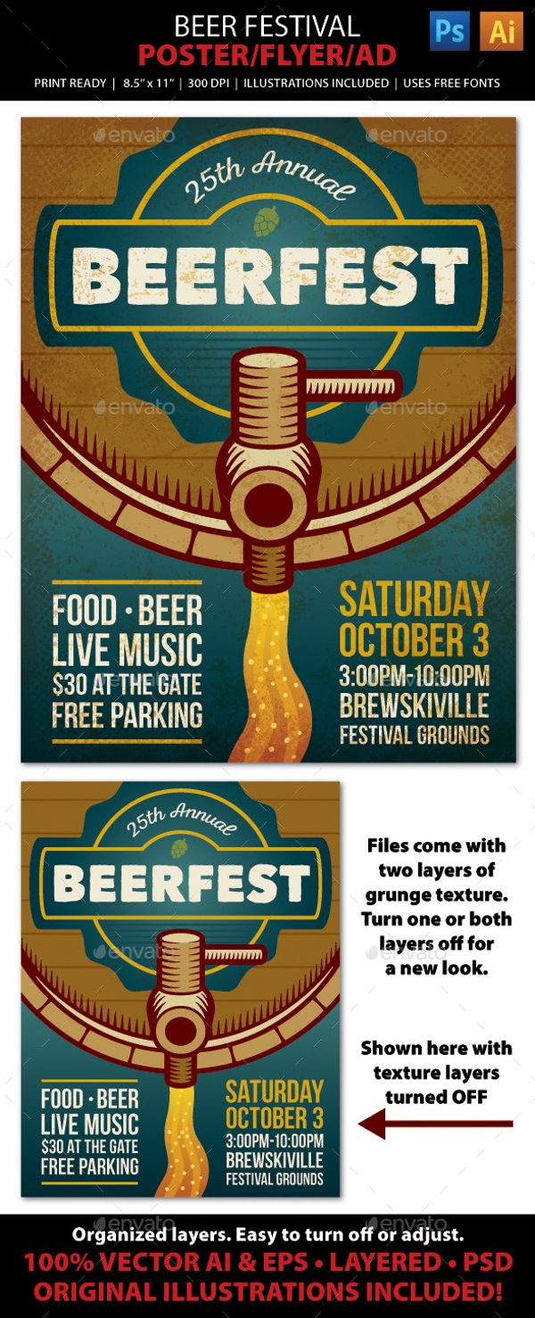 beer festival brochure cover