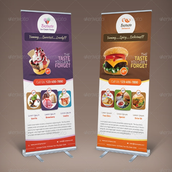 bestaste food billboard roll up banner