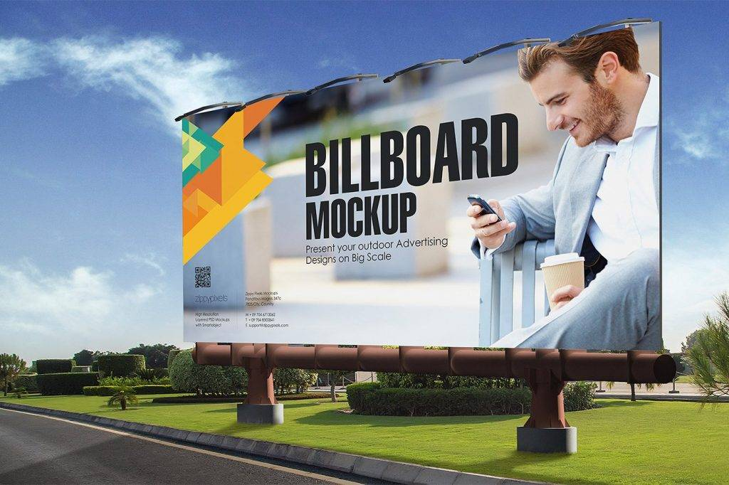 big scale outdoor advertising billboard example
