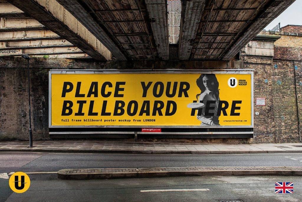 billboard mock up from london