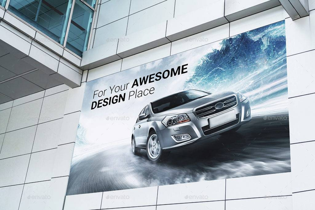 billboard outdoor advertising mock up