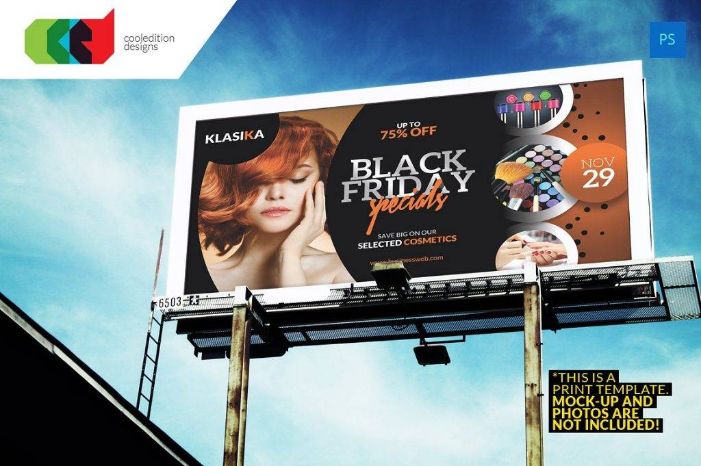 black friday billboard design example
