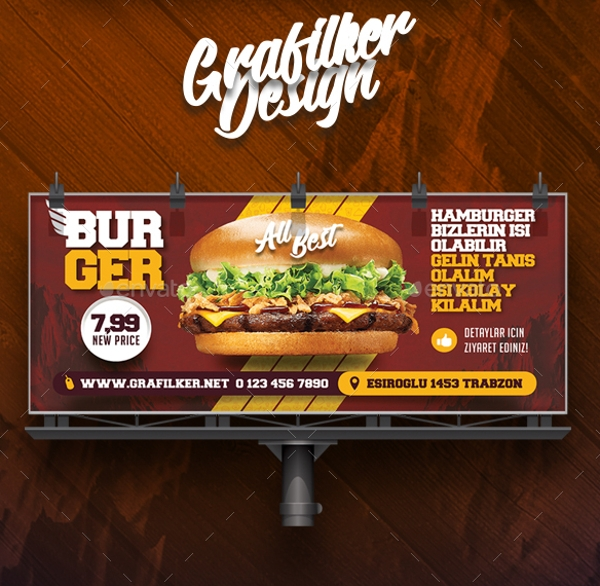 burger billboard