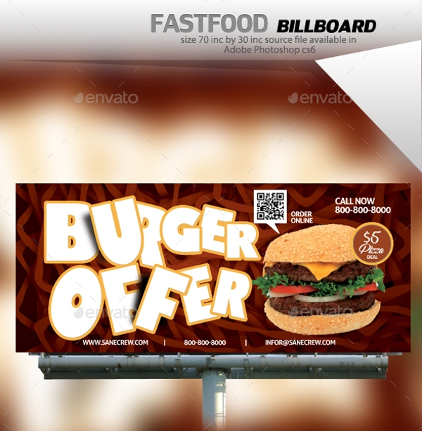 burger fast food billboard