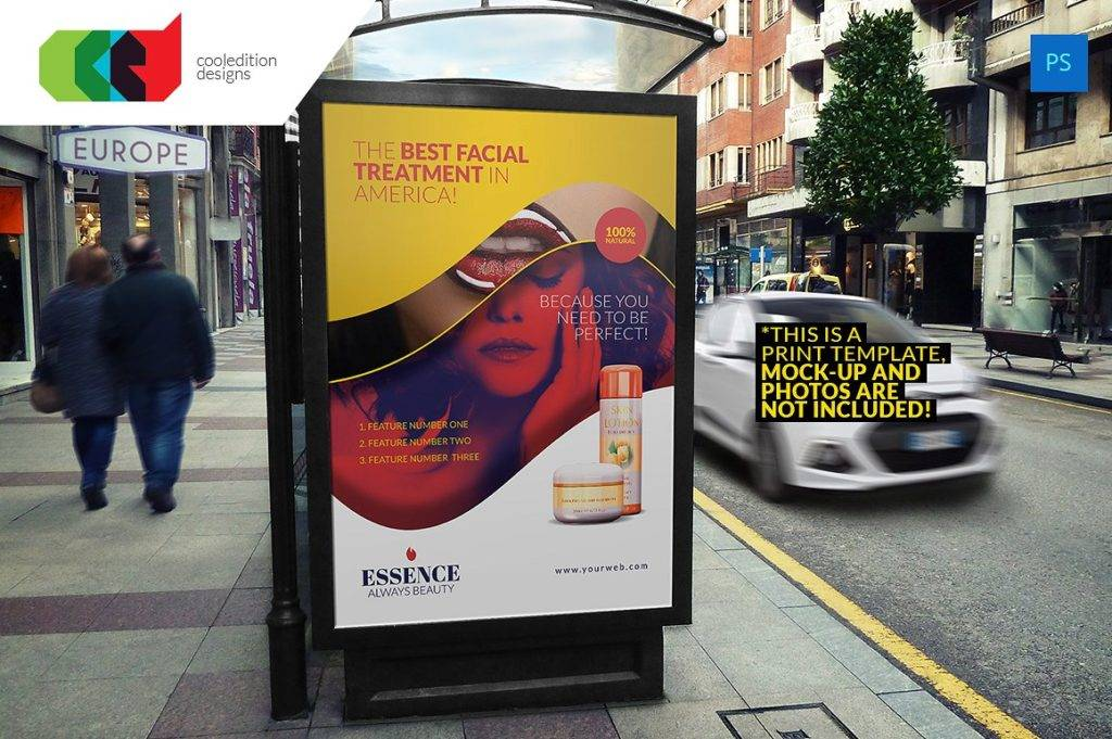 bus stop billboard design example