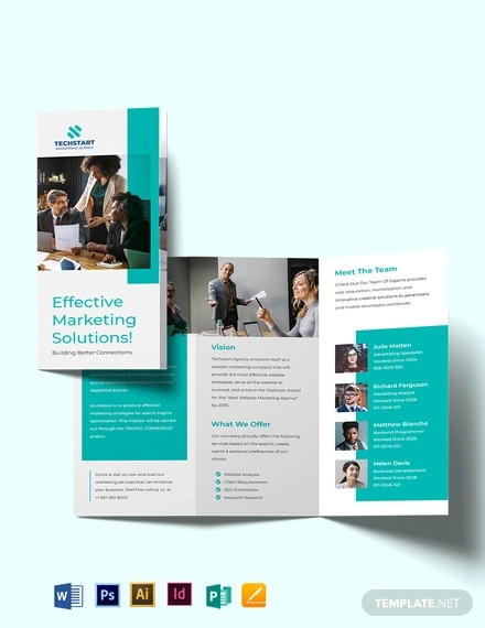 business advertising tri fold brochure template