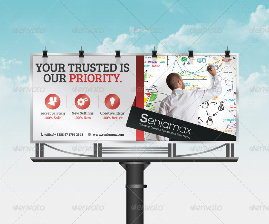 business company corporate billboard example