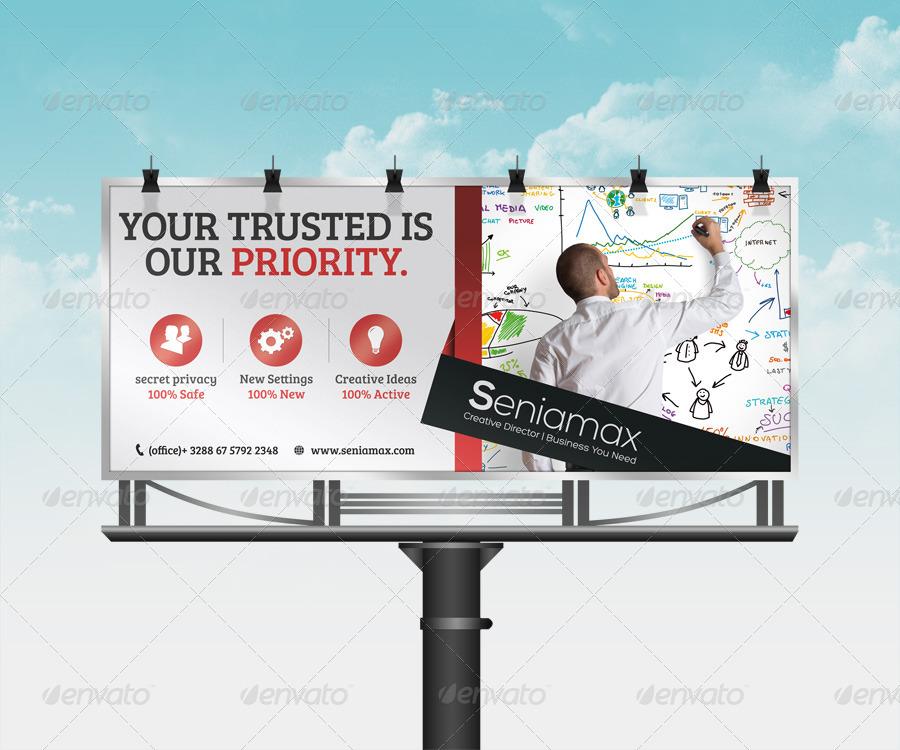 business company corporate billboard example