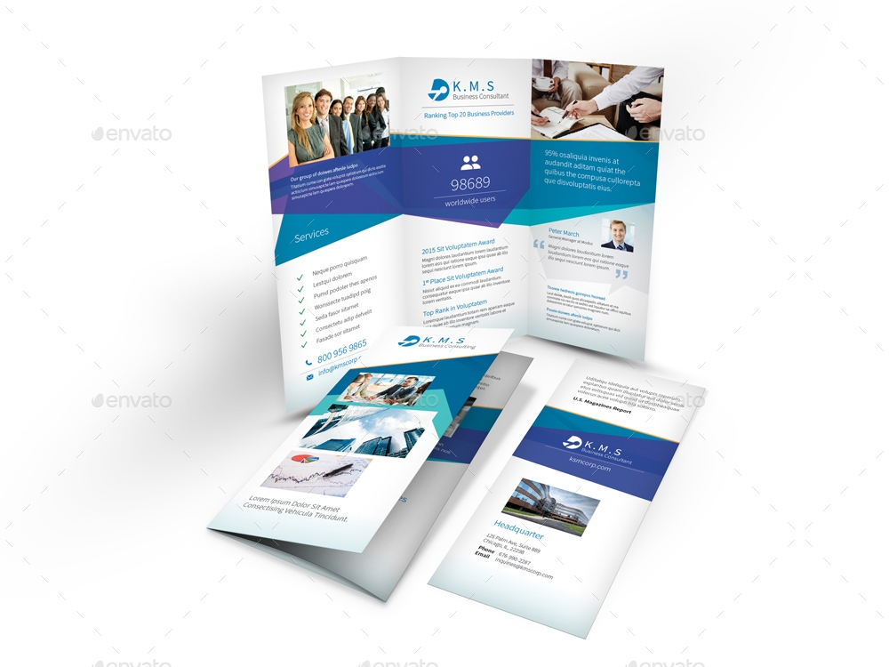 business consulting service trifold brochure