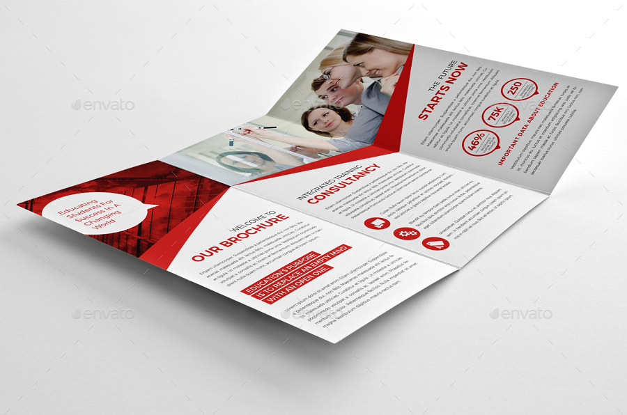 business education trifold brochure example