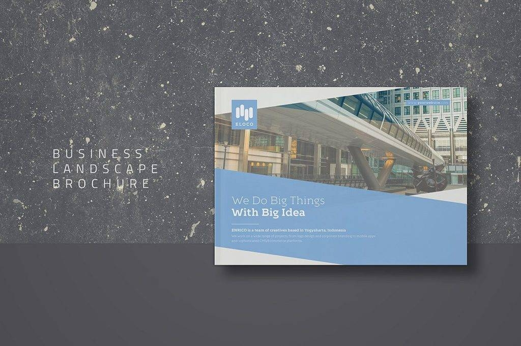 business landscape brochure example