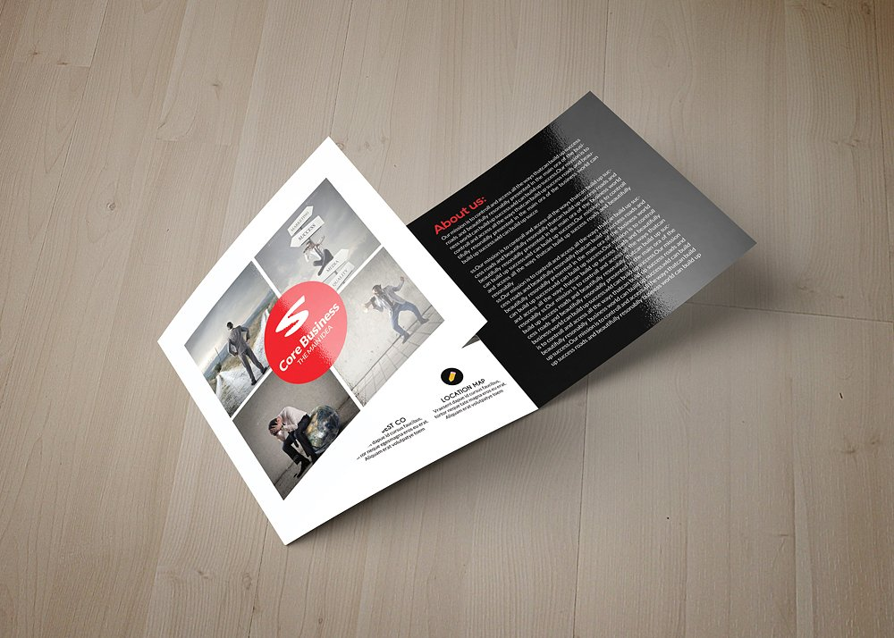 business square tri fold brochure